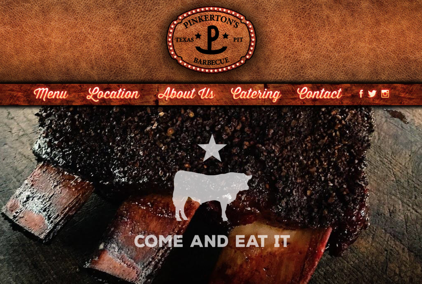 Pinkerton's Barbecue Website Launches Image